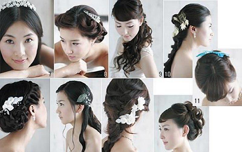 韩国新娘的婚纱发式,韩式新娘造型[组图]