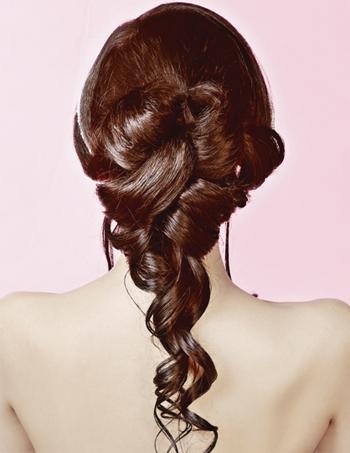 韩式新娘发型打造全过程