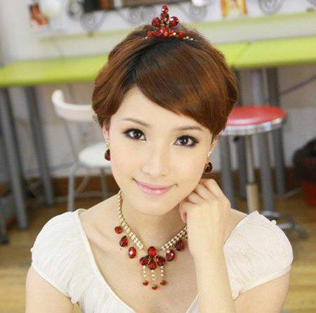 韩式新娘发型图片:超美新娘发型