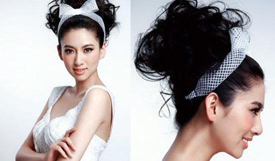 韩式新娘妆发型 韩式新娘盘发图片 韩式新娘盘发图解图片