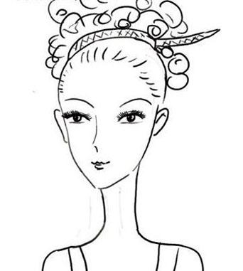 韩式新娘妆发型,韩式新娘盘发图片,韩式新娘盘发图解