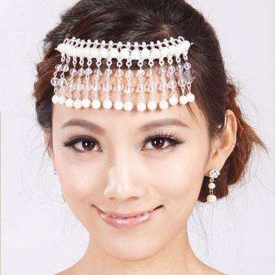 韩系新娘妆造型:韩式洁白新娘发饰造型欣赏
