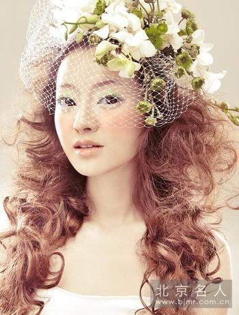 打造视觉新娘妆,唯美鲜花造型欣赏!