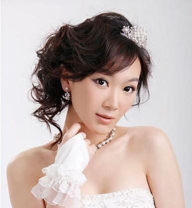 最新韩式新娘盘发造型图片及新娘造型点评图片