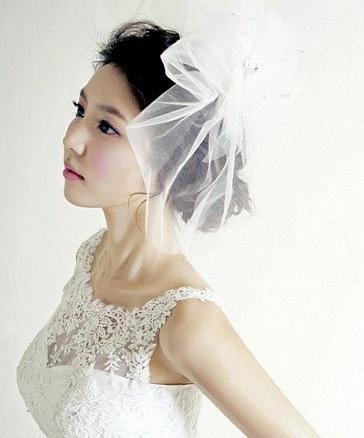 浪漫头纱新娘妆造型,白纱新娘妆造型欣赏图片