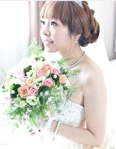 日系盘发 甜美日系新娘妆造型