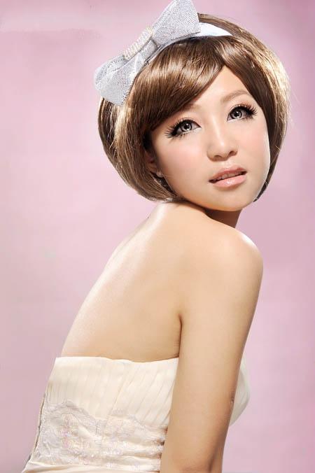 甜美日系新娘妆造型图片