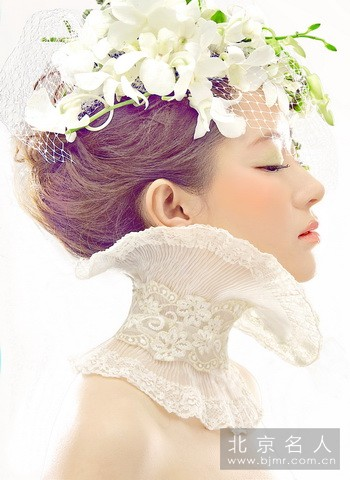 新娘当天鲜花发型图片大全 新娘造型欣赏 鲜花篇 图集 薇图片